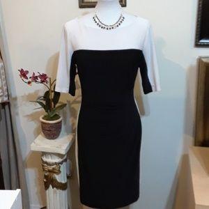 Beautiful Black & White Chaps Dress